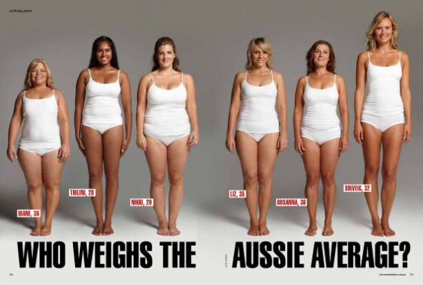 Australian women all weighing the average 70kg